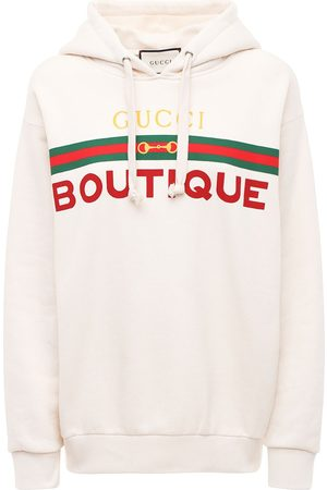 Gucci Boutique Print Cotton Jersey Hoodie