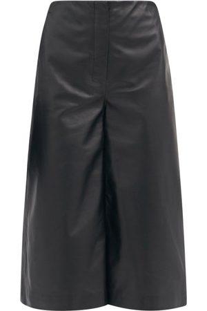 Altuzarra Sam Leather Cropped Wide-leg Trousers - Womens