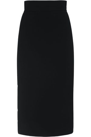Max Mara Nylon Stretch Pencil Midi Skirt