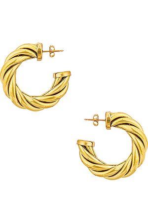 Laura Lombardi Spira Hoop Earrings in Metallic