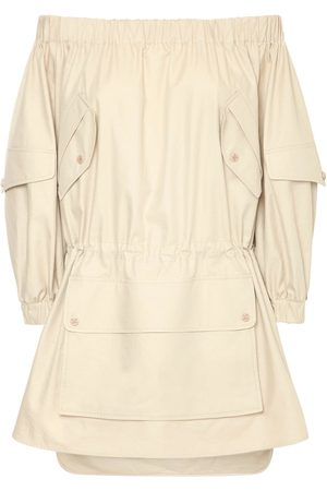 Max Mara Off-the-shoulder Cotton Twill Dress