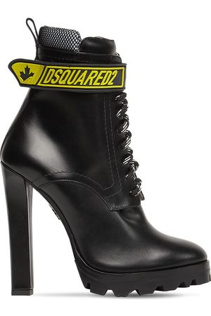 Dsquared2 120mm Fluo Leather & Mesh Ankle Boots