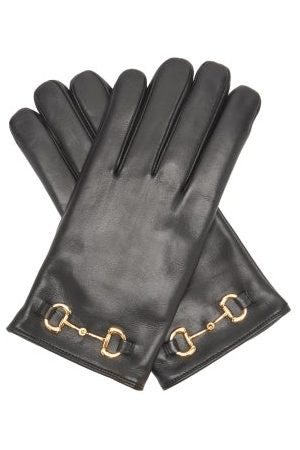 Gucci Men Gloves - Horsebit Leather Gloves - Mens