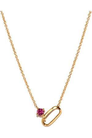 Lizzie Mandler Women Necklaces - July Birthstone Ruby & 18kt Necklace - Womens