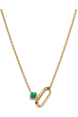 Lizzie Mandler Women Necklaces - May Birthstone Emerald & 18kt Necklace - Womens