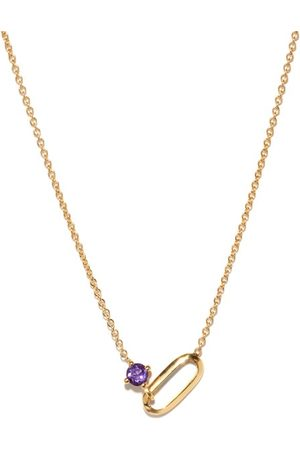 Lizzie Mandler February Birthstone Amethyst & 18kt Necklace - Womens