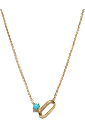 Lizzie Mandler December Birthstone Turquoise & 18kt Necklace - Womens