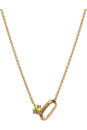 Lizzie Mandler Women Necklaces - August Birthstone Peridot & 18kt Necklace - Womens