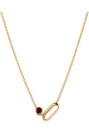 Lizzie Mandler Women Necklaces - January Birthstone Garnet & 18kt Necklace - Womens