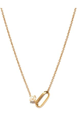 Lizzie Mandler Women Necklaces - June Birthstone Pearl & 18kt Gold Necklace - Womens - Pearl