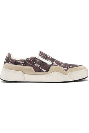 Isabel Marant Delleh Slip-on Tie-dye Canvas Trainers - Mens - Dark Grey