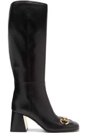Gucci Horsebit Leather Knee-high Boots - Womens