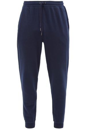 DEREK ROSE Men Sweatpants - Devon Cotton-jersey Track Pants - Mens - Navy