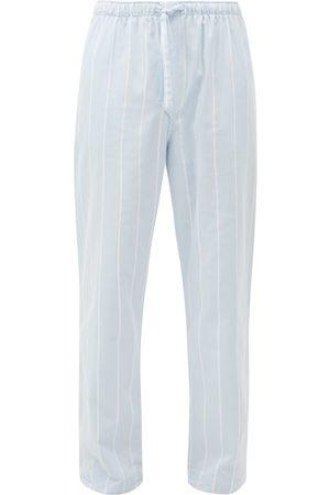 DEREK ROSE Men Pajamas - Arctic Striped Cotton-twill Pyjama Trousers - Mens - Light