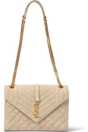 Saint Laurent Envelope Medium suede shoulder bag