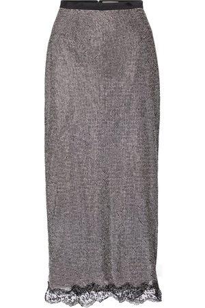 Christopher Kane Crystal mesh midi skirt