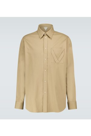 Bottega Veneta Long-sleeved cotton jacquard shirt