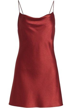 ALICE+OLIVIA Women's Harmony Draped Slip Mini Dress - - Size 14