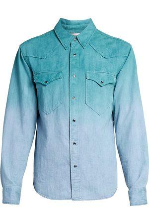 Isabel Marant Men's Pittih Dip-Dyed Shirt - - Size Medium