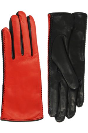 NICOLETTA ROSI Women's Women's Two Tone Cashmere Lined Lambskin Leather Gloves
