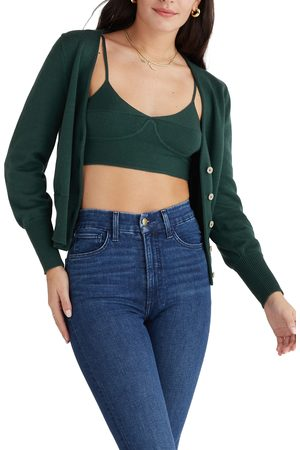 FAVORITE DAUGHTER Women's Crop Sweater Camisole