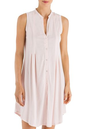 Hanro Women's Cotton Deluxe Button-Front Tank Gown - - Size XL