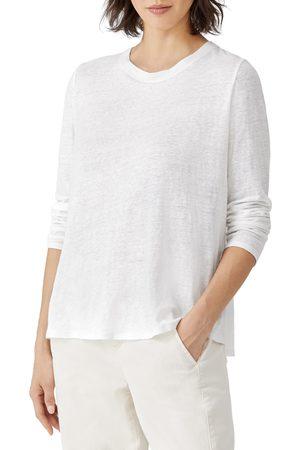 Eileen Fisher Women's Organic Linen Long Sleeve T-Shirt