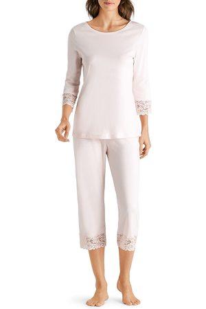 Hanro Women's Two-Piece Moments Pajama Set - - Size XL