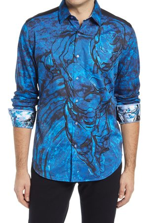 Robert Graham Men's X Marvel Extremis Armor Long Sleeve Button-Up Shirt
