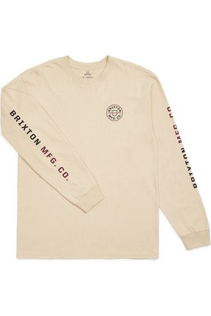 Brixton Men's Crest Logo Long Sleeve Men's Graphic Tee