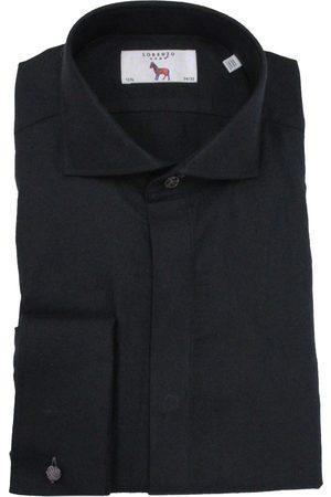 LORENZO UOMO Men's Big & Tall Trim Fit Tuxedo Shirt