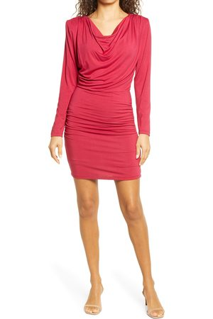 Fraiche by J Women's Cowl Neck Long Sleeve Minidress