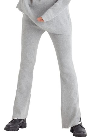 FAVORITE DAUGHTER Women's Cotton & Cashmere Rib Knit Flare Pants
