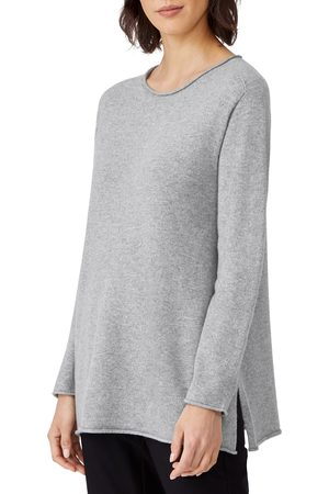 Eileen Fisher Women's Roll Neck Cashmere Tunic Sweater