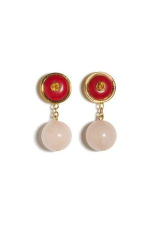 Lizzie Fortunato Yolo Earrings in Valentine