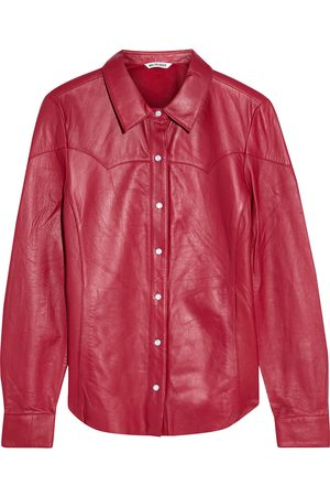 Walter Baker Woman Mirabel Leather Shirt Size L