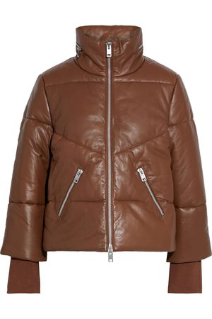 Walter Baker Women Leather Jackets - Woman Edwina Zip-detailed Quilted Leather Jacket Size L