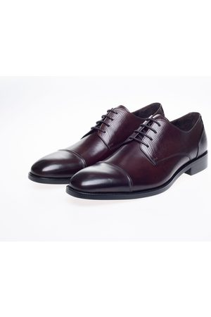 John White Melton Brown Grain Toe-Cap Derby Shoes