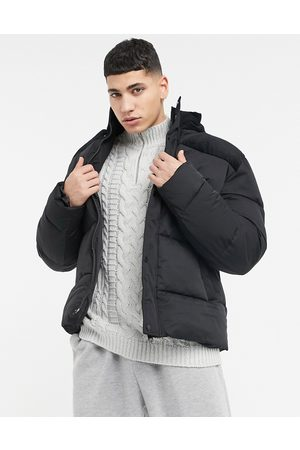 ASOS Puffer jacket with cord detail in