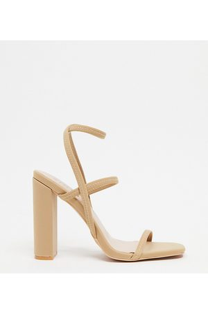 Simmi Wide Fit Simmi London Wide Fit Heidi block heeled sandals in