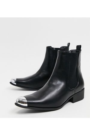 Truffle Collection Men Chelsea Boots - Wide fit western chelsea boots in with toe cap