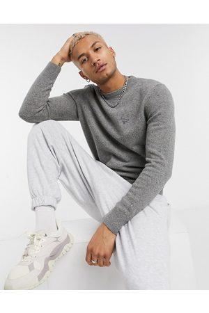 Barbour Beacon Roan crew neck wool sweater in -Grey