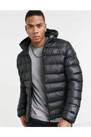 SikSilk Atmosphere ribbed puffer jacket in matte