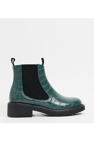 London Rebel Wide Fit Chelsea Ankle Boots