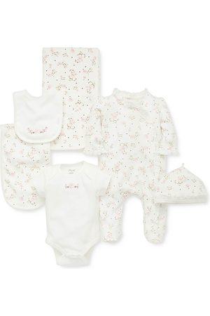 Little Me Girls' Vintage Rose Cotton Gift Set - Baby