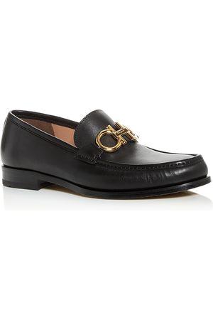 Salvatore Ferragamo Men's Rolo Leather Moc-Toe Loafers - Regular