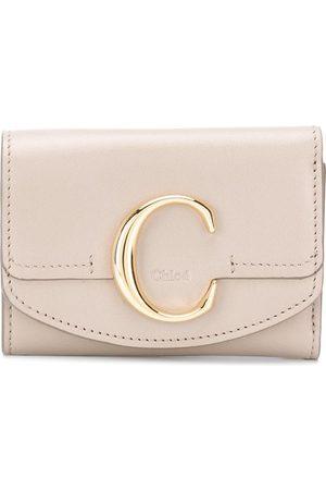 Chloé Mini C tri-fold wallet - Grey