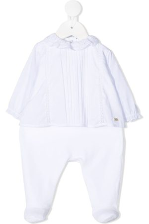Tartine Et Chocolat Lace-trimmed blouse-effect babygrow