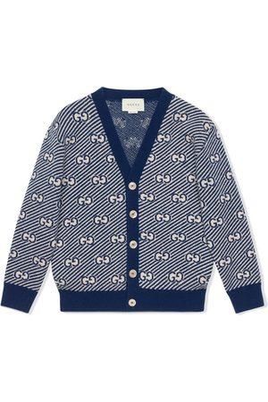 Gucci GG stripe wool cardigan