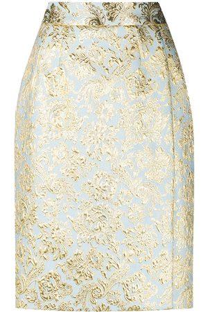 Dolce & Gabbana Fleur-de-lis pattern pencil skirt